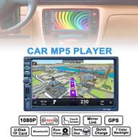 Wholesale Rds Car Stereo - 7 Inch 2 DIN Bluetooth Car Stereo MP5 Player GPS Navigation AM FM RDS Radio Support Mirror Link Aux In Rear View Camera CMO_22D