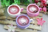 Wholesale Universal Coffee - New Slow Rising Squishies High Quality Kawaii Cute Jumbo heart coffee cup Soft Scented Squishy Stretch Kid To