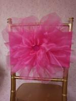 стул из сливы оптовых-2016 на заказ 3D цветок сливы чехлы на стулья романтическая органза красивый створки створки дешевые свадебные украшения стула 0332
