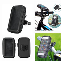 Wholesale iphone 5s bike case online - Motorcycle Bicycle Phone Holder Mobile Phone Stand Support for iPhone S C S Plus GPS Bike Holder with Waterproof Case Bag