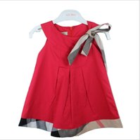 Wholesale Summer Sundresses For Babies - Summer Bow Baby Dresses for Girls Baby Clothes Sundress Princess Dress Girl Baby Dress Newborn Wholesale Infant Clothing