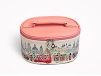 Wholesale large print box online - New Fashion woman Cosmetic print box large capacity mini portable Korea collection box cute waterproof