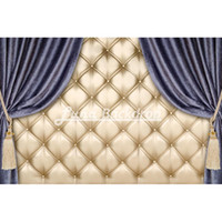 Wholesale Curtains For Children - 7X5ft(220x150cm) Baroque bed headboard Curtain for Wedding Vinyl Photography Background Backdrops backgrounds for photo studio F2516