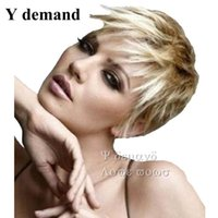 Wholesale Low Price Short Wigs - Fashion Newest Cheap!!! Low Price Fashionable Short Ombre Blond Wig For Black Women In Stock High Temperature Fiber