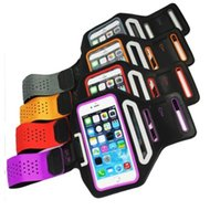 Wholesale Iphone Sport Case Strap - Fashion Waterproof Leather Sports Running Armband Phone Case For iPhone 6 Plus 5.5'' Belt Wrist Strap GYM Arm Band Cover iphone6