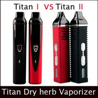 Wholesale Ecigarette Kits - Herb Titan 1 Titan 2 Kit Dry Herb Vaporizer ecigarette herbal vaporizers Vape kit Titan 2200mah Temperature Control Systerm LCD Dispaly