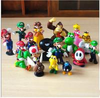 Wholesale Play Mario Bros - Classic Super Mario Bros PVC Figure dinosaurand roid watchtoys Figure play 18style 1lot
