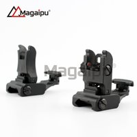 Wholesale Back Iron Sight - Iron Folding #71L-F R Set Front & Rear Flip-up Back-up Tactical Sites Sights Free Shipping