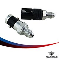 Wholesale Racing Components - PQY RACING-AN3 3 body brake fluid quick disconnect fittings PQY-SPH0303ALBK