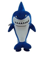 Wholesale Ship White Whale - Likable Light Blue Whale Shark Finding Nemo Bruce Mascot Costume Cetacean Selachimorpha With White Belly Adult No.1981 Free Ship