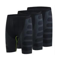 Wholesale Men Yoga Spandex - 2016 High Elasticity Fitness Gym Men'S Shorts Quick Dry Training Sports Pantalones Running Yoga Workout Black Shorts Men 6004