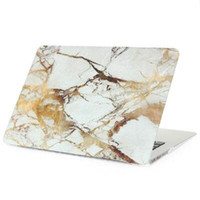 Wholesale Laptops Hard Covers - Hard Plastic Crystal Case Cover Protective Shell for Macbook Air Pro Retina 11 12 13 15 inch Water Decal Marble Pattern Cases