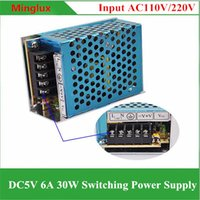 Wholesale Dc 5v 6a - Aluminum Case DC5V 6A Switching Power Supply 110V 120V 220V 240V AC to DC 5V 30W Transformer for LED Lights and Industry Equipments