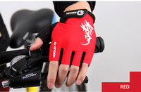Wholesale Red Half Finger Gloves - CoolChange Cycling Gloves Half Finger Mens Women's Summer Bike Bicycle Gloves Nylon Sport Mountain Bike Gloves Guantes Ciclismo