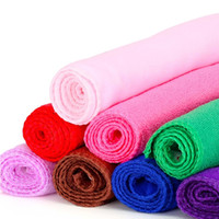 Wholesale bath dry cleaning - High quality 100pcs  lot Microfiber Water Ultra-Absorptive Bath Dry Towel For Dog Pet Mix Colors IC796