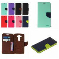 Wholesale Korea Flip Cases - Case Wallet Card Pouch Leather For LG V20 V10 K10 K7 K8 G5 G4 LS775 Korea Hybrid Vertical Flip Soft TPU Cover Card Slot Holder Pouch