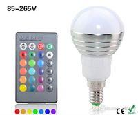 Wholesale spotlight bar white - 5W E14 RGB Led Bulb Lamp 16Colors Changing Lighting Spot light For KTV BAR Holiday Art Decor + IR Remote Controller AC85-265V