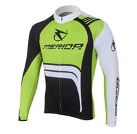 Wholesale Exercise Bicycles - 2017 Autumn mens merida white bicycle exercise cycling clothing thin wicking cycling jersey long sleeve 2XS-6XL