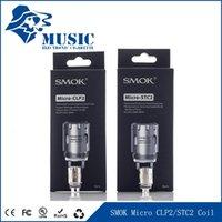 Wholesale Dhgate One - Original SMOK Micro TFV4 Coils Micro -STC2 0.25ohm Micro -CLP2 0.3ohm DHgate Wholesale Genuine SMOK Micro ONE Kit Coils