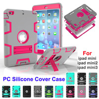Wholesale Ipad Full Body - Shockproof kids Protector Case for iPad Mini Armor Robot Full Body PC Silicone Protective Cover Case for iPad Mini 1 Mini 2 Mini