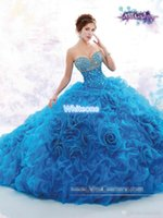 Wholesale Year 12 Formal Gowns - Luxury Quinceanera Dresses 2016 Beaded Crystals Sweetheart with Train Junior Pageant Prom Party Gown Princess 15 Years Debutante Formal Wear