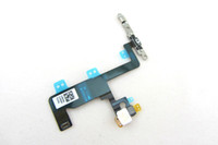 Wholesale Iphone Power Button Assembly - For iPhone 6 Power Flex Cable Welding Metal Plate 4.7 inch 6G On off Button Switch Power Button Flex With Flash Light Assembly