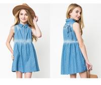 vestido estilo cowboy venda por atacado-Crianças vestidos de verão e outono estilo do bebê meninas estilo cowboy dress bonito vestido sem mangas linda princesa dress atacado