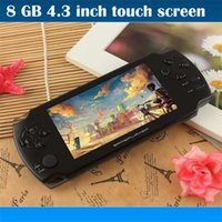 Wholesale Android Touch Screen Game Console - 8GB portable game console 4.3 inch touch screen with camera Ebook handheld more many kinds free games MP3 MP4 Player