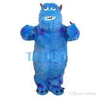Wholesale Sullivan Costume - James P. Sullivan Mascot Costume From Monsters University Fancy Dress Free Shipping