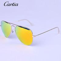 Wholesale Hot Men Beach - Carfia brand designer Hot Sale Mirror Sunglasses Summer Sunglasses for Men Women UV Protect Sunglasses 58mm  62mm Original Leather Box