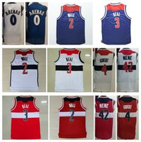 Wholesale Wall Wizard - Cheap Wizards 0 Gilbert Arenas Basketball Jerseys Uniforms 2 John Wall Throwback 42 Nene Hilario Shirt 3 Bradley Beal 4 Marcin Gortat