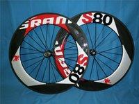 Wholesale Carbon Bike Wheel Sram Hub - Sram 88MM full carbon fiber UD matte glossy finish road bike whees with Novatec or powerway hubs best quality wheels A01
