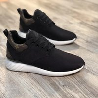 Wholesale grid floor - 2017 high quality grid luxury brand men's casual shoes with leather breathable black fashion leisure sports shoes size 38 ~ 45
