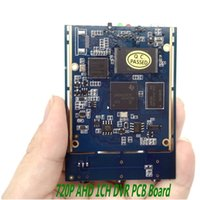 Wholesale Dvr Board Module - DHL-FREE 10pcs lot 720P 1CH Mini AHD DVR PCB Board support 128GB 1 channel mini dvr module with audio video recording ann
