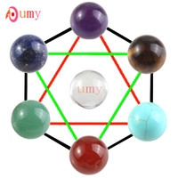Wholesale Multi Style Round Stone Loose Beads Healing Chakra Accessories Charm Jewelry DIY Making