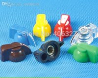 Wholesale Potentiometer Knobs Wholesale - Wholesale-6.35mm Chicken Head potentiometer Knob Guitar effect pedal AMPS jazz bass Skirted Plactic Control Knob