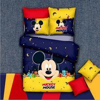 Wholesale Kids Doona Covers - Reactive Print 3 4Pcs Bedding Sets Home Textile Bed Quilt Doona Duvet Cover Pillowcases Set Children Kids Cartoon Mickey Bed Set
