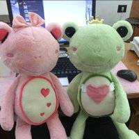 Wholesale New Real Love Dolls - 55 75cm real picture frogs plush toys love Heart frog cloth doll kids toys baby pillow Girlfriend birthday gift for children