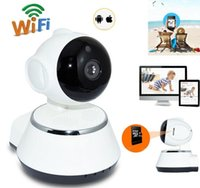 Wholesale pcs security - V380 HD 720P IP Camera WiFi Wireless Smart Security Camera Micro SD Network Rotatable Defender Home Telecam HD CCTV IOS PC