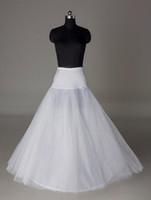 crinoline slip für prom großhandel-Auf Lager UK USA Indien Petticoats Krinoline Weiß A-Line Braut Unterrock Slip No Hoops voller Länge Petticoat für Abend / Prom / Wedding Dress
