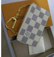 Wholesale Top Designer Women Wallet - TOP KEY POUCH Damier canvas holds high quality famous classical designer women key holder coin purse small leer with gift box bag sap #L54V