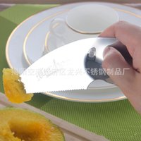 Wholesale used knife set - Multi Function Fruit Knife Stainless Steel Tableware Family Necessity Durable Wide Range Of Use Fruits Fork Hot Sell 3 8rx J