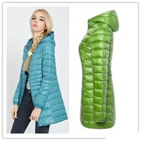 Wholesale Snowka Down Parka Famous Brand Designer Winter Jacket Women Long White Duck Down Jacket Outwear Ultralight Hooded Thin Coat
