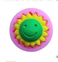 Wholesale Sun Moulds - Wholesale sun flower Tools liquid Silicone Fondant lace Mould 3D Soap Candle Chocolate Candy Cake decoration Polymer clay baking DIY
