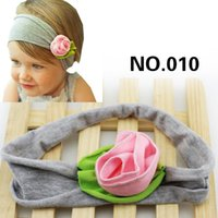 Wholesale Victorian Hair - 2017 wholsale petite Victorian rose headbands head band multi color Girls Hair Ornaments Baby Flower Headbands Childrens Hair Accessories