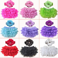 Wholesale pants bloomers tutu shorts for sale - Newborn Toddler Photography Baby Girls Headband Short Pants Bloomers Baby Bloomer Set Summer Infant Clothes sets l