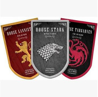 Wholesale Wholesale Team Flags - 95*60cm House Stark Banner Game of Thrones Wolf Tournament Outdoor Banner Flag Custom America USA Team Soccer College Flag CCA7842 24pcs