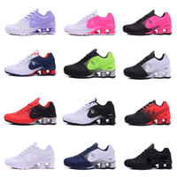 Wholesale New Fashion Canvas Shoes - New arrival Shox Deliver 809 Men women Running Shoes Cheap Fashion Sneakers white black red Shox Current Top Quality Sport Shoes Size 40-46