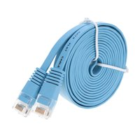 Wholesale Laptop Flat Cables - New Blue High Speed Cat6 Ethernet Noolde Flat Cable 20m Ultra Thin Design RJ45 Computer LAN Internet Network Cord