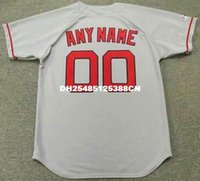 Personalizadas Jerseys De Los Red Sox Baratos-BOSTON RED SOX 1990 Majestic Throwback Away